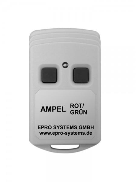 Kleine Funkfernbedienung mit Taster ROT/GRÜN für Ampel GRÜN-Anforderung
