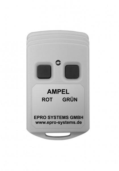 Kleine Funkfernbedienung mit Taster ROT und GRÜN für Ampeln ROT/GRÜN