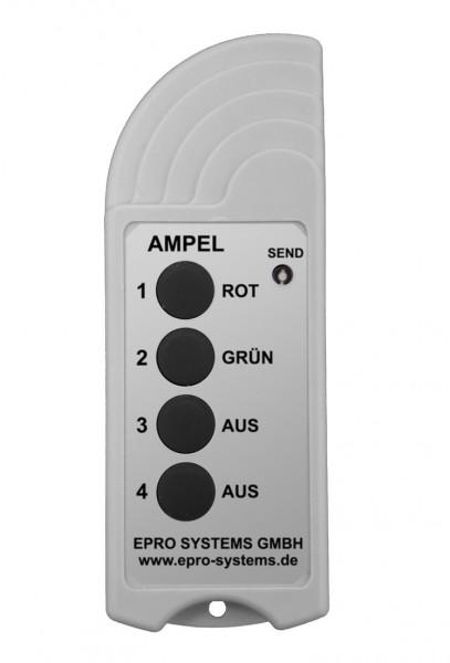 Große Funkfernbedienung mit Taster ROT, GRÜN und AUS für Ampeln ROT/GRÜN